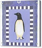 Hanukka Penguin Three Acrylic Print