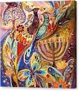 Hanukkah In Magic Garden Acrylic Print