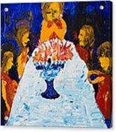 Hanukkah Menorah Acrylic Print