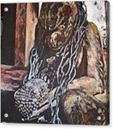 Hanuman In Chains Acrylic Print