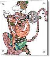 Hanuman Acrylic Print by Kruti Shah