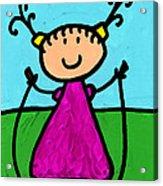 Happi Arte 7 - Girl On Jump Rope Art Acrylic Print