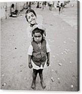 Happiness In India Acrylic Print