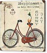 Happiness Is My Bicycle Acrylic Print