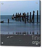 Happisburgh Beach Groynes Acrylic Print