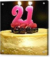 Happy 21st Birthday Acrylic Print