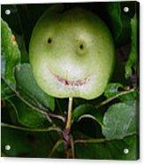 Happy Apple Acrylic Print