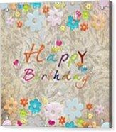 Happy Birthday 2 Acrylic Print