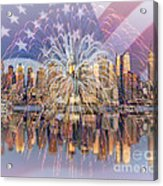 Happy Birthday America Acrylic Print by Susan Candelario