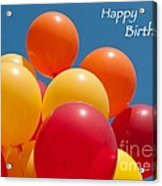 Happy Birthday Balloons Acrylic Print