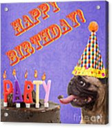 Happy Birthday Card Acrylic Print by Edward Fielding