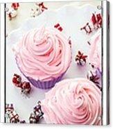 Happy Birthday Cupcakes Acrylic Print by Edward Fielding