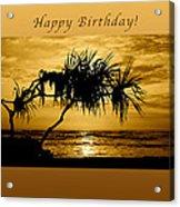 Happy Birthday Golden Sunrise Acrylic Print