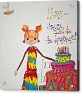 Happy Birthday Acrylic Print by Mary Kay De Jesus