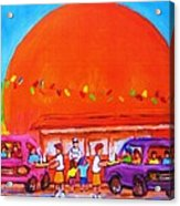 Happy Days At The Big  Orange Acrylic Print