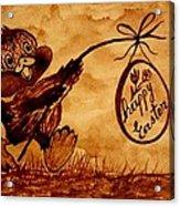 Happy Easter Coffee Art Acrylic Print
