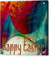 Happy Easter Greeting Card Acrylic Print