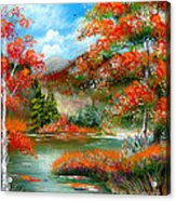 Happy Ever After Autumn  Acrylic Print