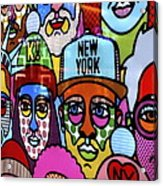 Happy Faces Happy Places New York Acrylic Print