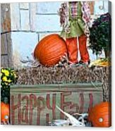 Happy Fall Acrylic Print
