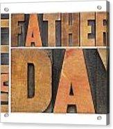 Happy Father Day Acrylic Print