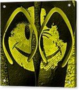 Happy Flops Yellow Acrylic Print