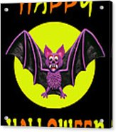 Happy Halloween Bat Acrylic Print