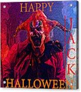 Happy Halloween Jack Acrylic Print