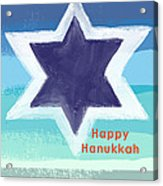 Happy Hanukkah Card Acrylic Print