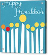 Happy Hanukkah Menorah Card Acrylic Print