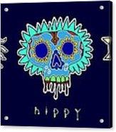 Happy Hippy Hopey Acrylic Print