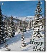 Happy Holidays - Winter Wonderland Acrylic Print