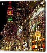 Happy Holidays Downtown Denver Co Acrylic Print