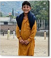 Happy Laughing Pathan Boy In Swat Valley Pakistan Acrylic Print