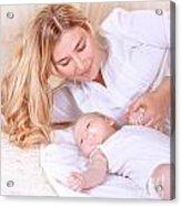 Happy Mother With Newborn Baby Acrylic Print
