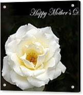 happy Mother's Day White Rose Acrylic Print