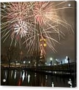 Happy New Year 2014 A Acrylic Print