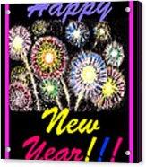 Happy New Year Acrylic Print