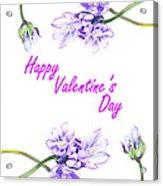 Happy Purple Valentine Acrylic Print