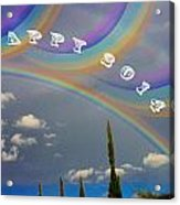 Happy Rainbows Acrylic Print
