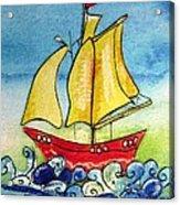 Happy Sailing Ship  Acrylic Print