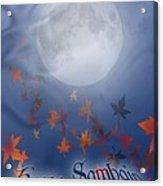 Happy Samhain Moon And Veil  Acrylic Print