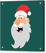 Happy Santa Acrylic Print by Kenneth Feliciano