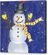 Happy Snow Acrylic Print