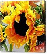 Happy Sunflowers Acrylic Print