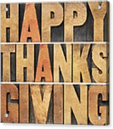 Happy Thanksgiving Acrylic Print