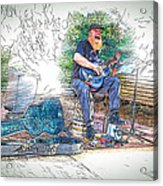 Happy The Busker Acrylic Print