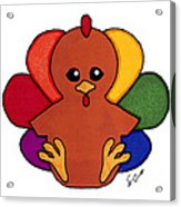 Happy Turkey Day Acrylic Print