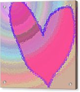 Happy Valentines Day Acrylic Print