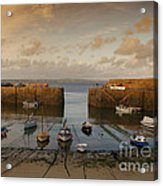 Harbor At Dusk Acrylic Print by Pixel Chimp